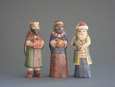 """includes three 4"""" carved figures"""
